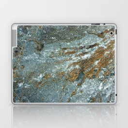 Earthy Blue and Gold Rock Laptop & iPad Skin