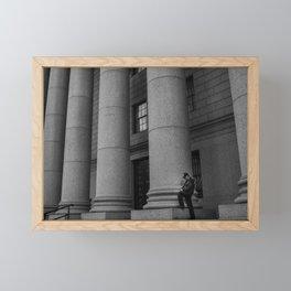 Man & Big Stone Billars, B Framed Mini Art Print
