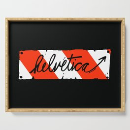 Helvetica Street Cred Serving Tray
