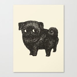 Black Pug Canvas Print