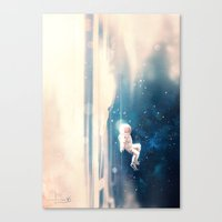 Canvas Prints featuring Breathe by kelogsloops