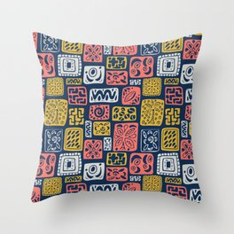 UnLimited Boxes- Living Coral Pantone 2019 Throw Pillow