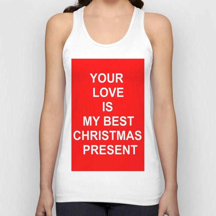 Christmas Red Unisex Tank Top