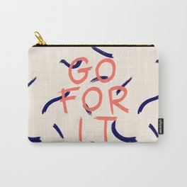 GO FOR IT #society6 #motivational Carry-All Pouch