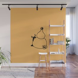 Gourd - Orange daylily Wall Mural