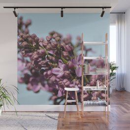 Lilac and Blue Wall Mural