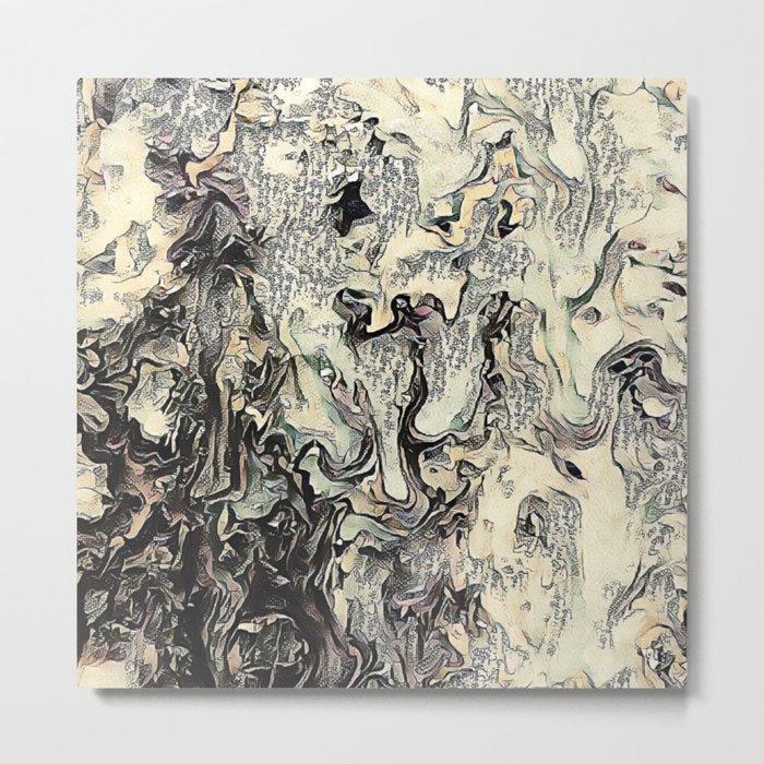 Texture Overlay Abstract Design Metal Print