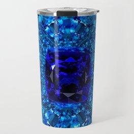 Blue Sapphires  September Gemstones  Art Travel Mug