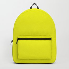 Yellow Neon Solid Colou Backpack
