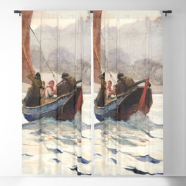 Winslow Homer's Returning Fishing Boats (1883) Blackout Curtain