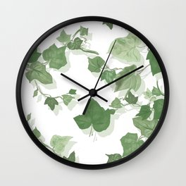 ivy leaves Wall Clock