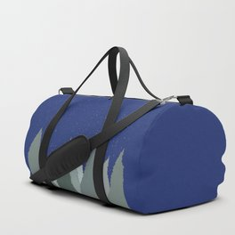 Evergreens and Silent Night Snow Duffle Bag