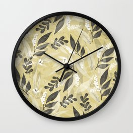 Leaves 7 Wall Clock