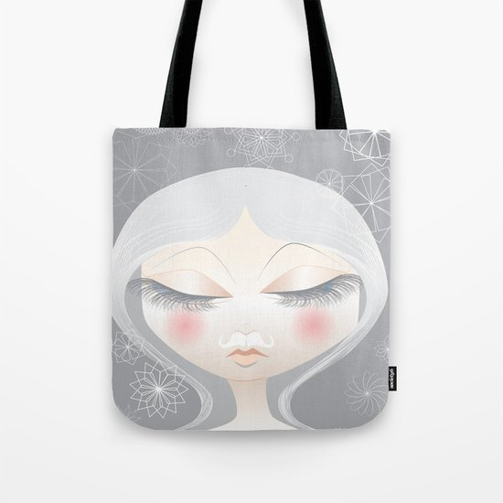 A Moustache From the SnowFall Tote Bag