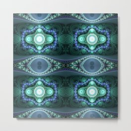 """Ethereal Mints"" Fractal Grand Julian Flame Metal Print"
