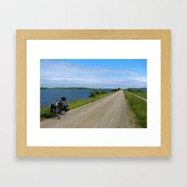 The Lonnnngggg Road Ahead Framed Art Print