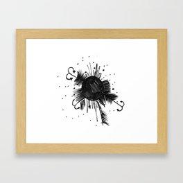 Brain Bacteria Framed Art Print