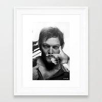 daryl Framed Art Prints featuring Daryl  by Adel