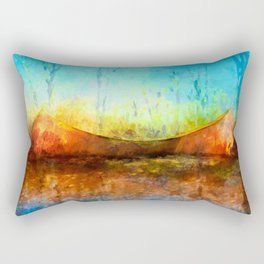 Birch Bark Canoe Rectangular Pillow