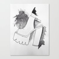 heels Canvas Prints featuring heels by zahara_art
