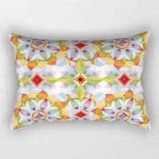 Flower Garden Kaleidoscope Rectangular Pillow