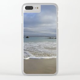 Sea foam on Reflective Sand Clear iPhone Case