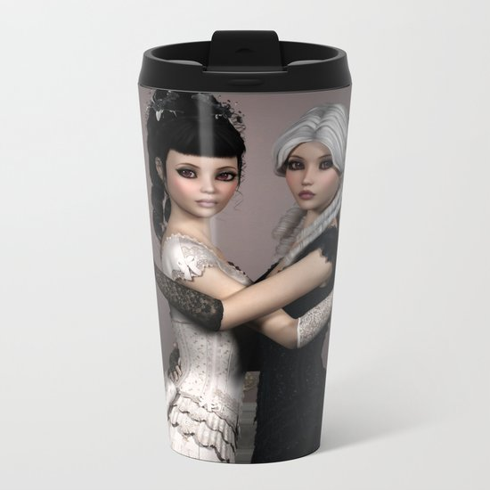 Beautiful Ladies and a difficult choice Metal Travel Mug