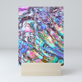 Shimmery Rainbow Abalone Mother of Pearl Mini Art Print
