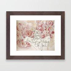 the roses of the lovers Framed Art Print