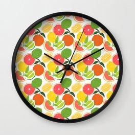 Citrus Harvest Wall Clock