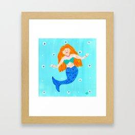Whimsical Mermaid Art Framed Art Print