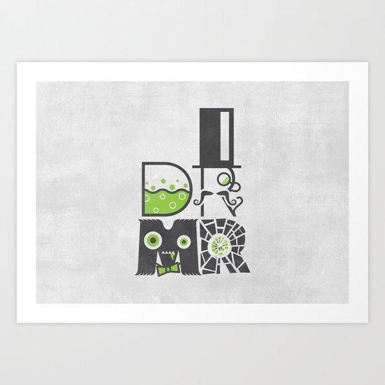 DR MR Art Print