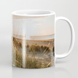 Dutch beach at sunset from the dunes | Colourful Travel Photography | Zeeland, Holland (The Netherlands) Coffee Mug