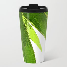 PALM TREE ON TROPICAL ISLAND FOLIAGE Travel Mug