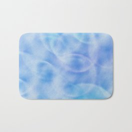 blue rings abstract 2 Bath Mat