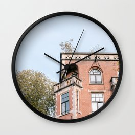Canal House in Amsterdam, the Netherlands || Travel photography Cityscape Minimalism Architecture Wall Clock