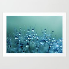 Blue Shower Art Print