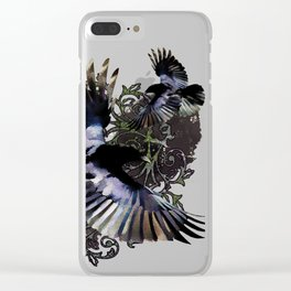 Flying above reality Clear iPhone Case