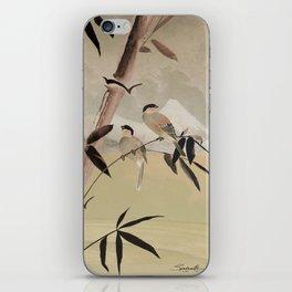 Two Birds in Bamboo Tree iPhone Skin