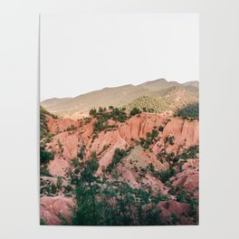 Orange mountains of Ourika Morocco | Atlas Mountains near Marrakech Poster
