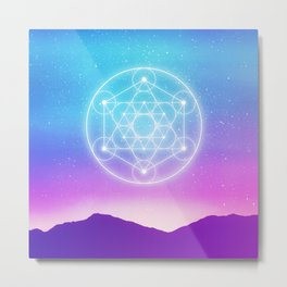 Sacred Geometry (Metatron) Metal Print
