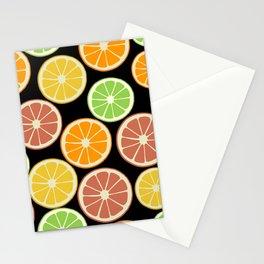 Citrus Fruit Slices, Oranges, Limes, Lemons Stationery Cards