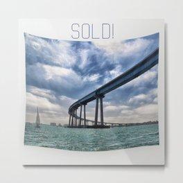 Coronado Bridge Tapestry - sold! Metal Print