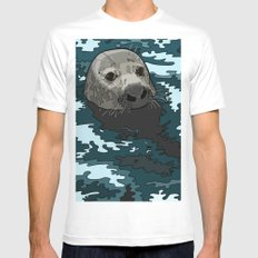 Grey Seal Mens Fitted Tee White MEDIUM