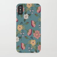 vintage floral iPhone & iPod Cases featuring Floral Vintage by Juliana Zimmermann