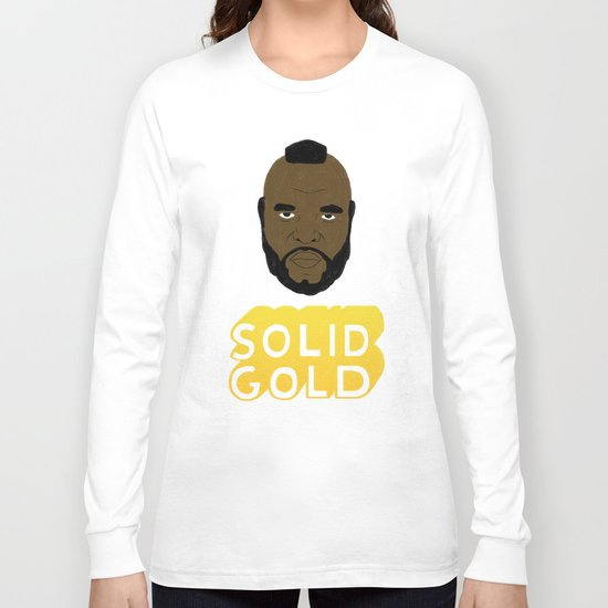 Solid Gold Long Sleeve T-shirt