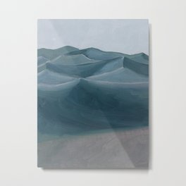 Blue Desert Twilight Metal Print