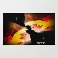 twins Area & Throw Rugs featuring Twins. by capricorn