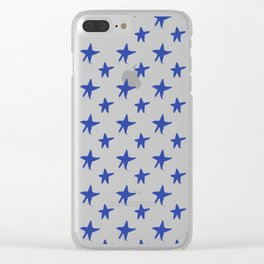 Blue star Clear iPhone Case