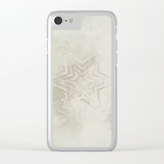 Delicate ivory star mandala Clear iPhone Case